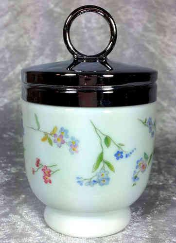 Royal Worcester Egg Coddler Forget-me not