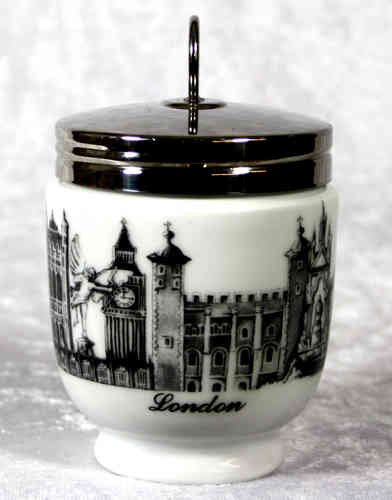 Royal Worcester Egg Coddler London Scene King Size