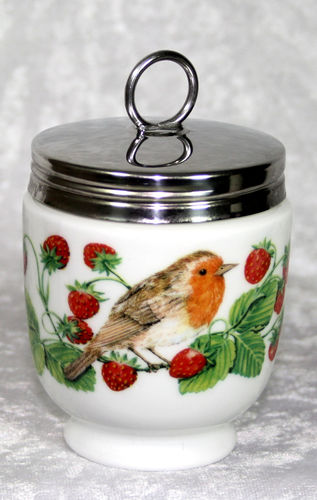 Royal Worcester Egg Coddler Birds & Strawberries King Size