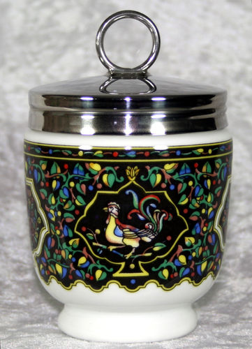 Royal Worcester Egg Coddler Jaipur Enamels Birds King Size