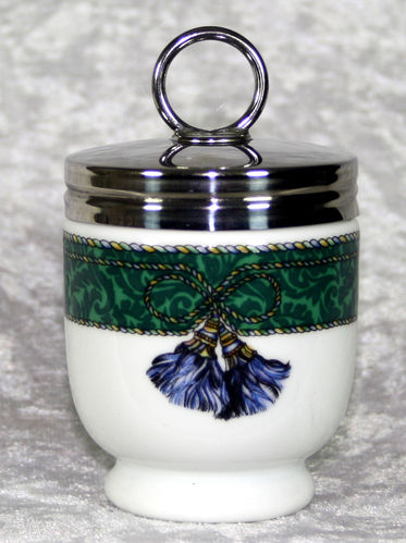 Royal Worcester Egg Coddler Jacquard Tassel
