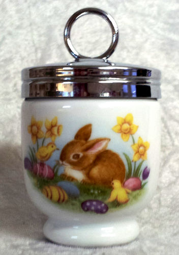 Royal Worcester Egg Coddler Easter Bunnies