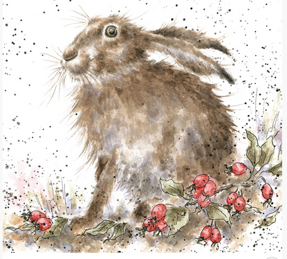 Wrendale Grusskarte 'The Hippy Hare'