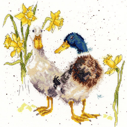 Wrendale Stickpackung Ducks and Daffs