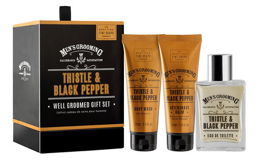 Scottish Fine Soaps - Thistle & Black Pepper Geschenkset