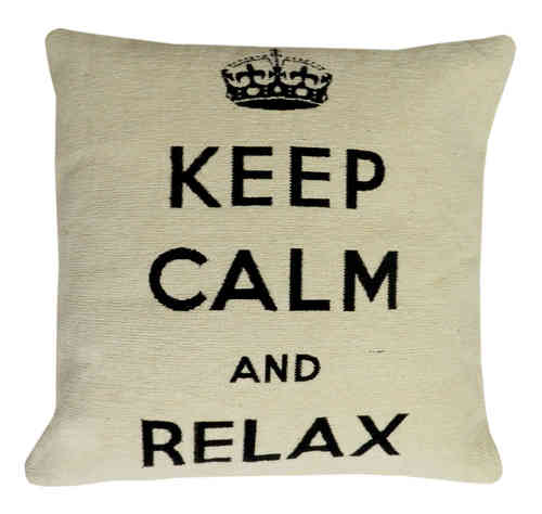 Keep Calm - Kissen, creme