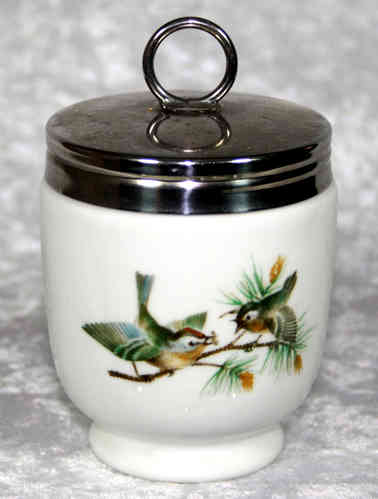 Royal Worcester Egg Coddler Birds King Size