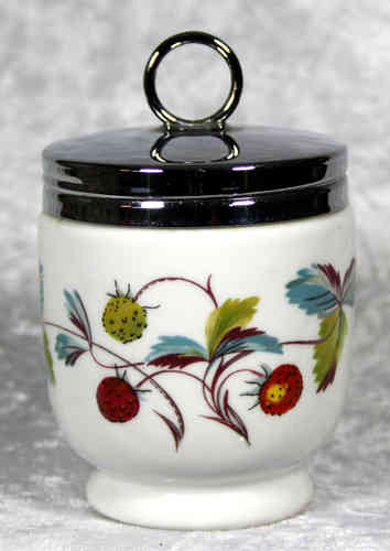 Royal Worcester Egg Coddler Strawberry Fair King Size
