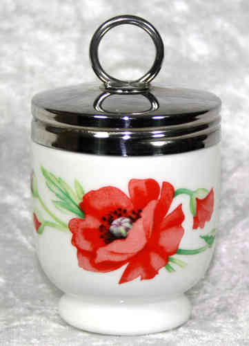 Royal Worcester Egg Coddler Poppies King Size