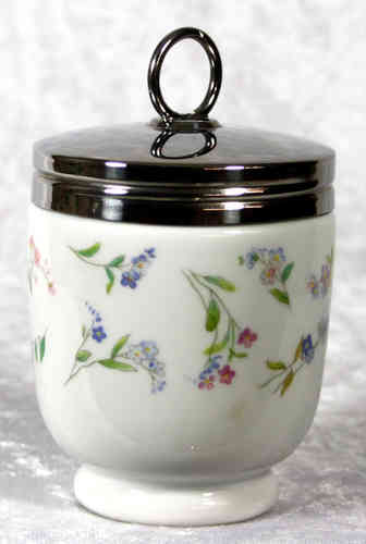 Royal Worcester Egg Coddler Forget-me not King Size
