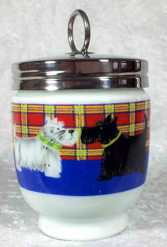 Royal Worcester Egg Coddler Scottie Dogs King Size