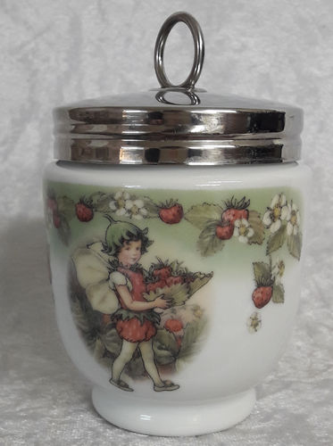 Royal Worcester Egg Coddler Strawberry Fairy King Size