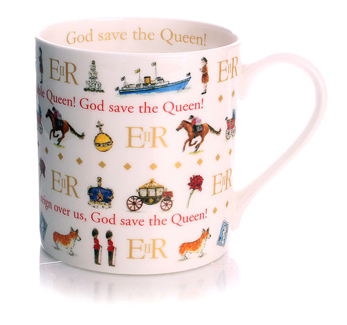 God Save the Queen Kaffeebecher