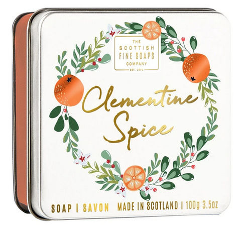 Soap in a Tin - Clementine Spice